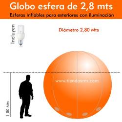 Globo Esfera de 2,8 Mts