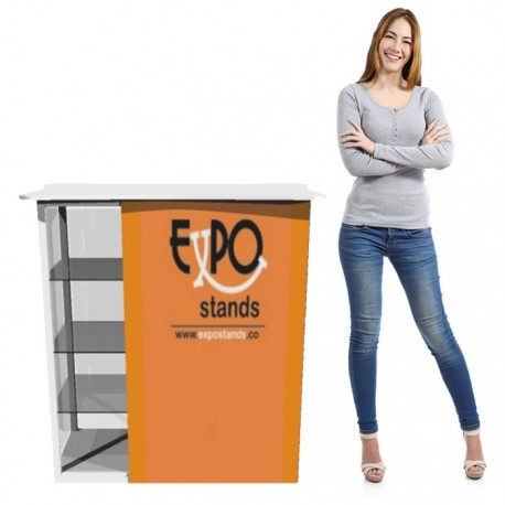 ExpoStands - Counter con vitrina lateral 100 x 50 cm