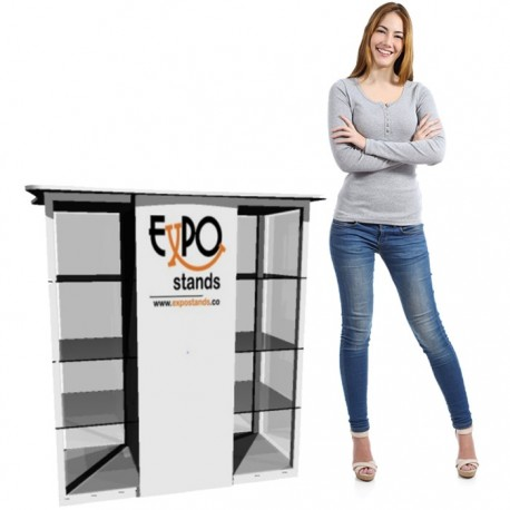 ExpoStands - Counter con vitrina lateral doble 100 x 50 cm