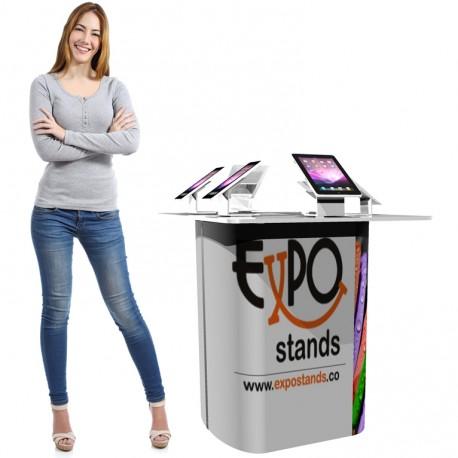 Mesa para exhibición de teléfonos móviles y tabletas