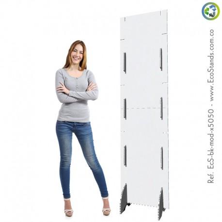 Backing publicitario de cartón modular Eco Stand
