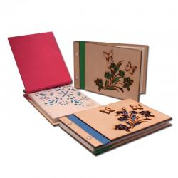 Cudernos media Carta en madera