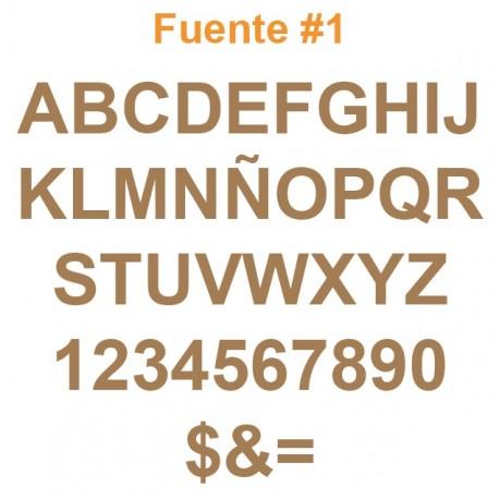 Letras en MDF de 3mm