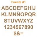 Letras en MDF de 3mm cortadas con láser