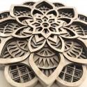 Mandala 3D en Madera
